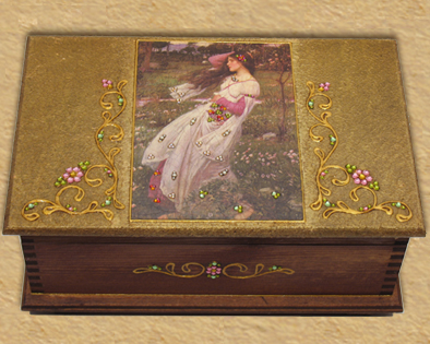 Victorian design jewelry box H4
