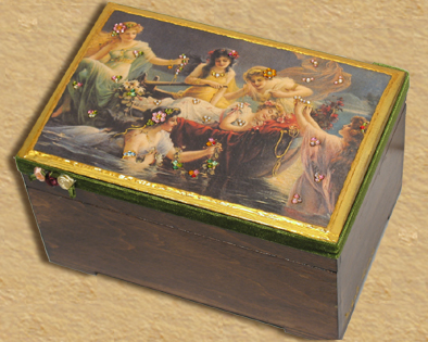 Victorian Treasure jewelry box TJB2