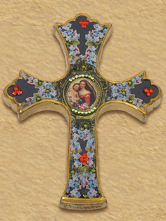 Maria & Jesus decorative cross E