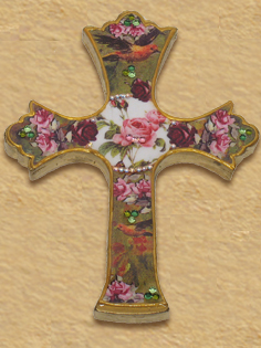 Romantic roses design cross G