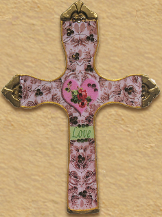Catholic cross LOVE handmade
