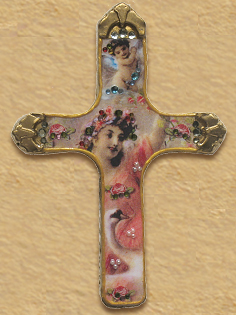 Catholic cross design with angles R