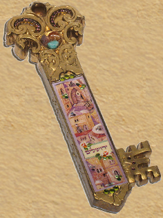 Decorative Key of Jerusalem hand made in Israel